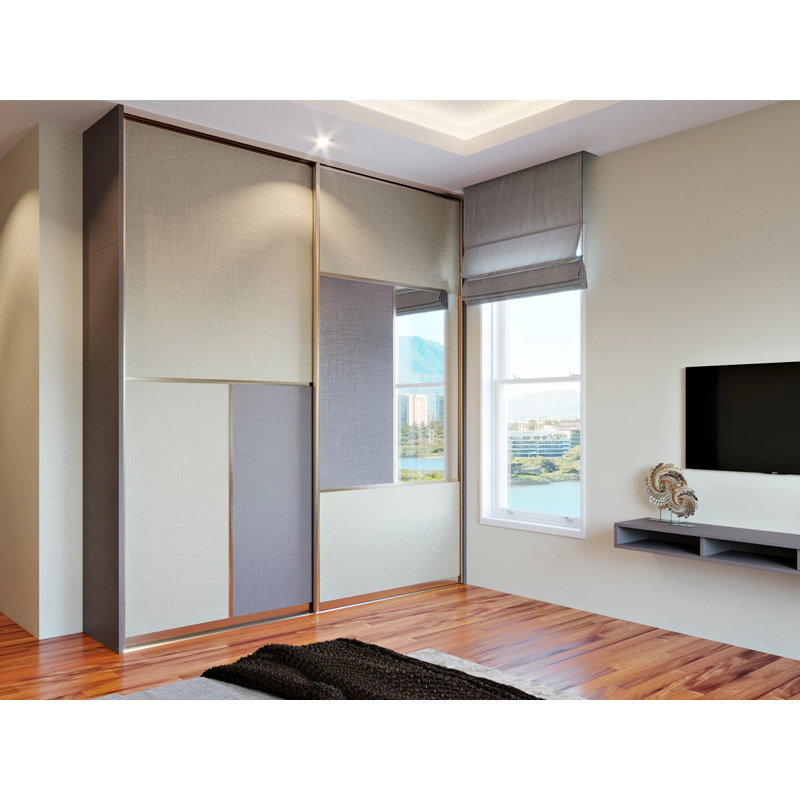 China Large Storage Closet Wardrobe Sliding Door with Mirror .