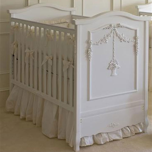 Floral Bouquet Crib In White and Nursery Necessities in Interior .