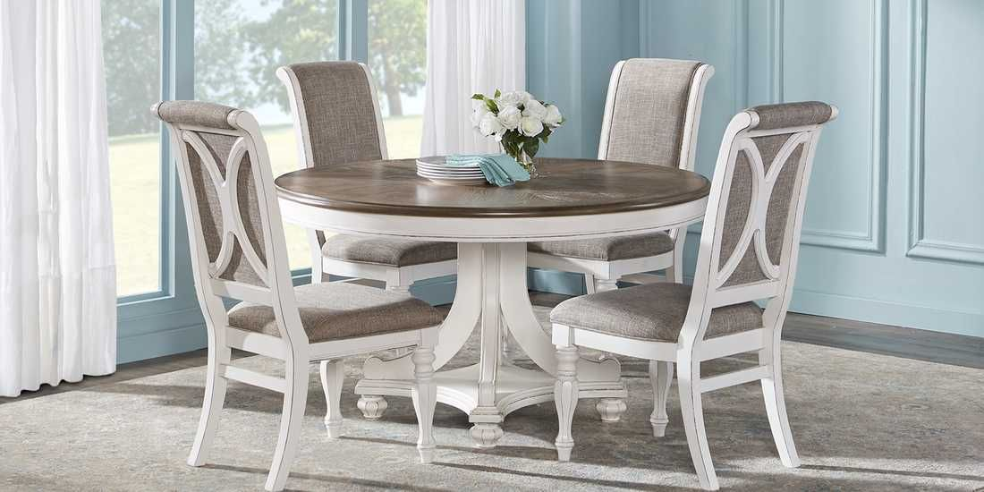 French Market White 5 Pc Round Dining Room in 2020 | Dining room .