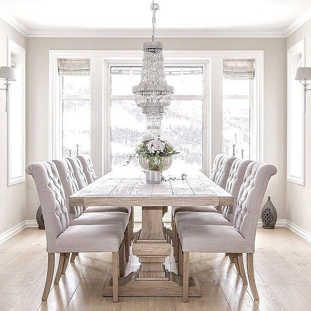 White Dining Room Chairs interesting white dining room - Home .
