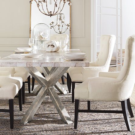 """Petra 86"""" Rectangle Century Marble Dining Table in White 