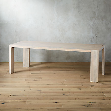 """Blox White Wash Dining Table 35""""x91"""" + Reviews 
