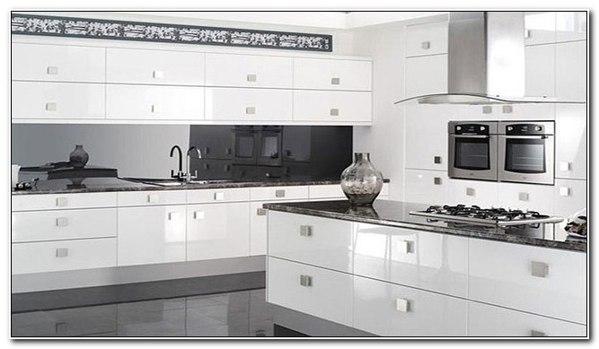 Modern White Gloss Kitchen Cabinets - Cabinet : Home Design Ideas .