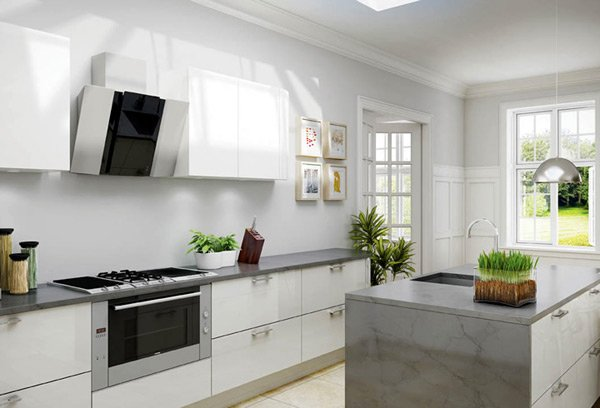 17 White and Simple High Gloss Kitchen Designs | Home Design Lov