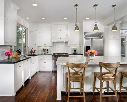 Kitchen White Kitchen Cabinets With Black Countertops Charming On .