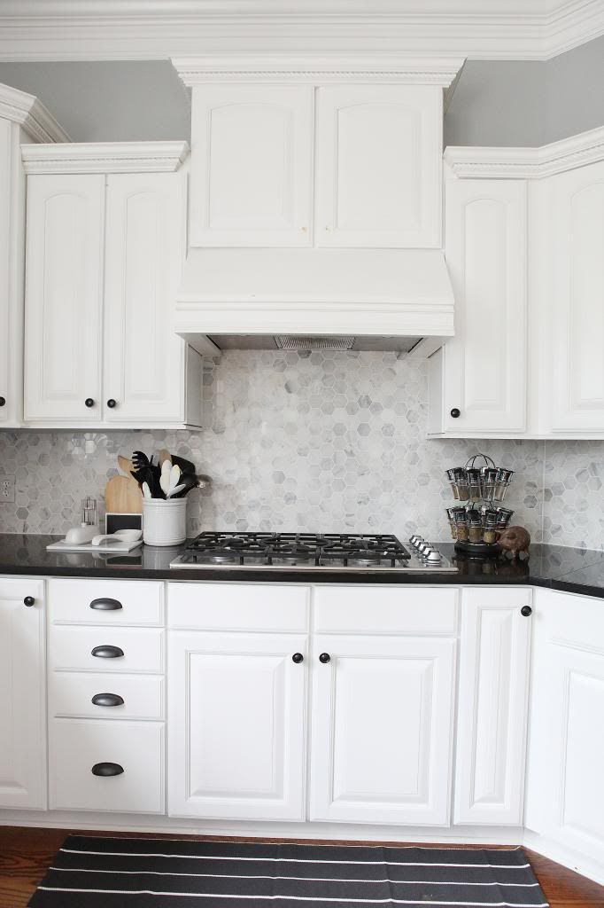 Almost There | Backsplash for white cabinets, Gray, white kitchen .