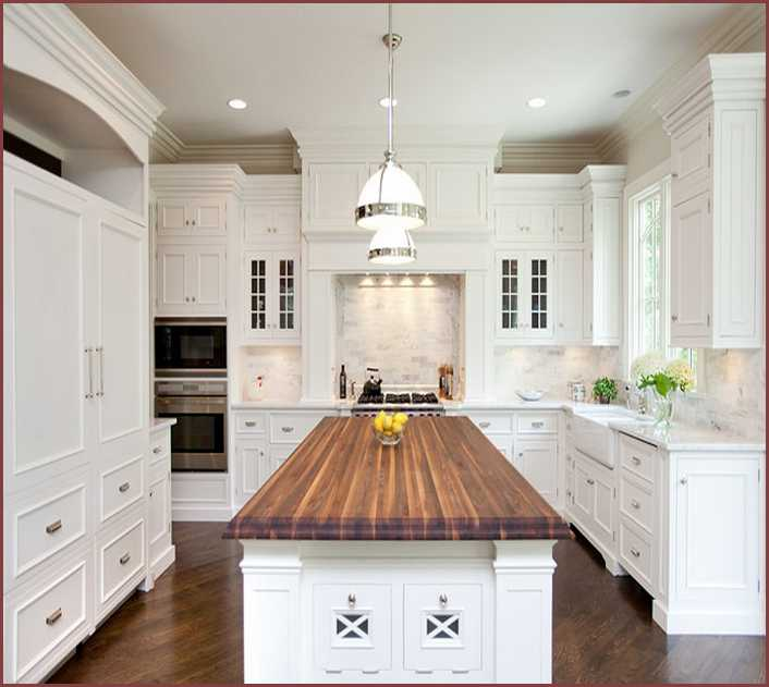 Awesome White Kitchen Island With Butcher Block Top Beautiful .