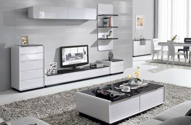 White Gloss Living Room Furniture — Oscarsplace Furniture Ideas .