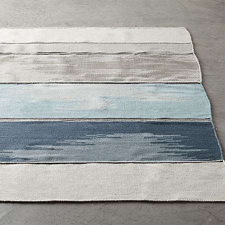 Dip Navy and White Rug | C