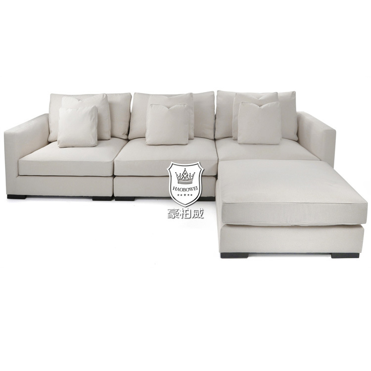 China off White Sectional Sofa with Ottoman - China Sectional Sofa .