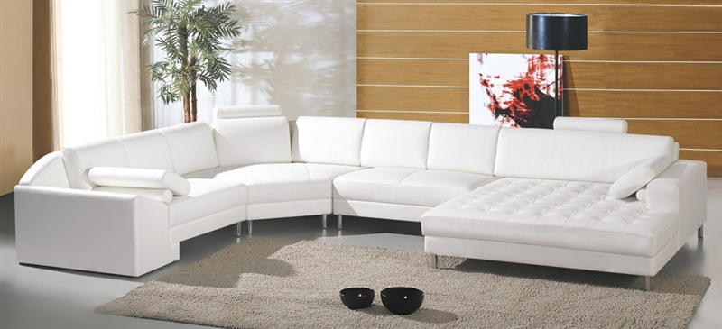 Modern White Sectional Sofa TOS-LF-22