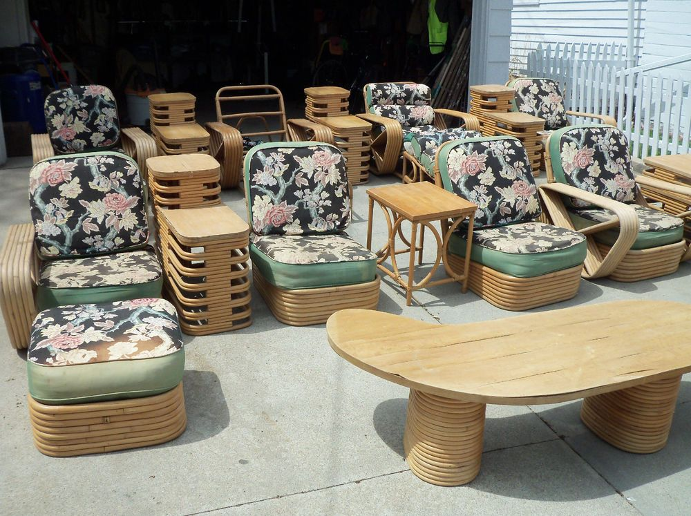 VINTAGE RATTAN FURNITURE 22 PIECE SET FROM THE 1950'S | Vintage .