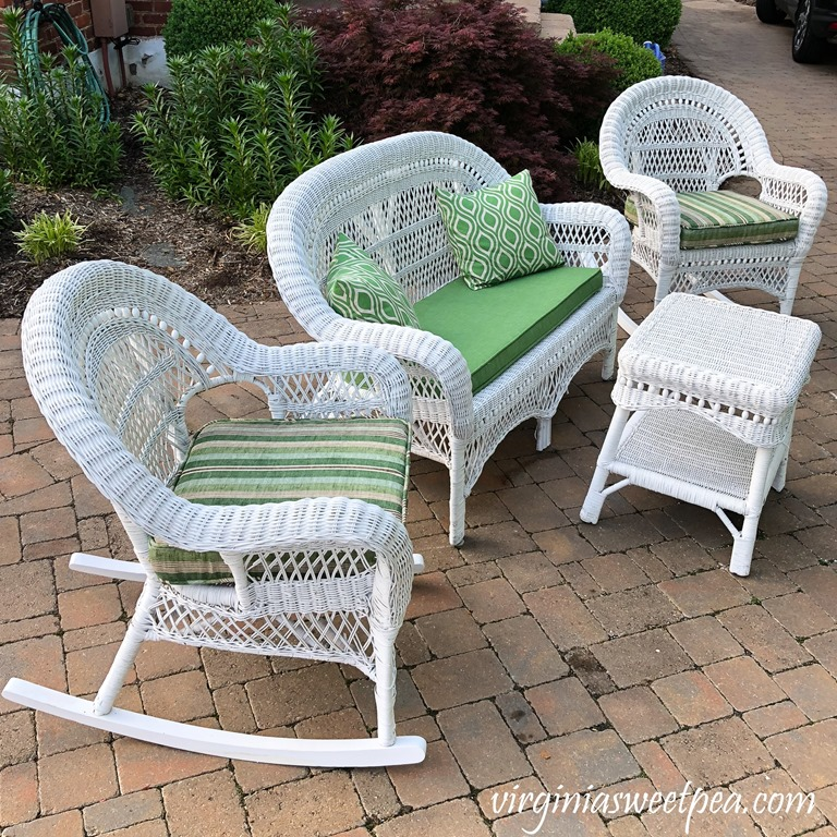 Wicker Porch Furniture Makeover - Sweet P