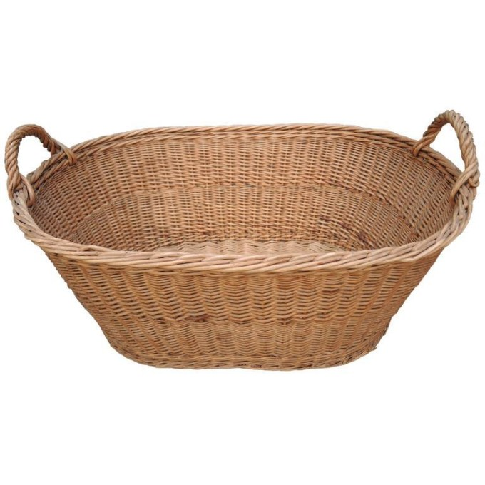 French Woven Willow/wicker Market Laundry Basket Chairish, French .