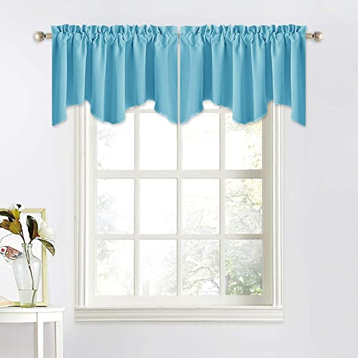 Amazon.com: NICETOWN Window Valances for Small Window - 52 inches .