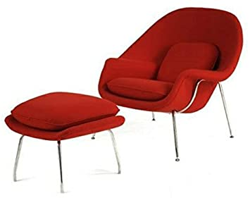 Amazon.com: Mid Century Saarinen Style Womb Chair and Ottoman .