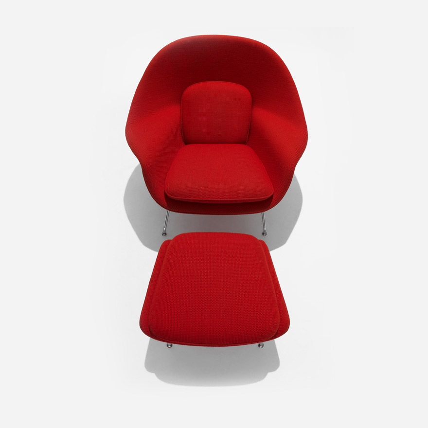 Saarinen Womb Chair and Ottoman | Kno