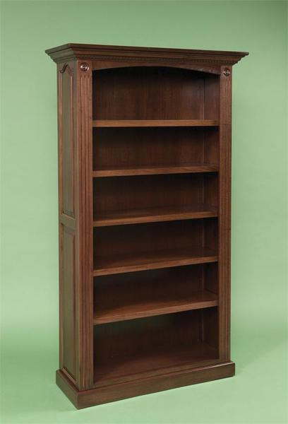 Premium Raised Panel Solid Wood Bookcase from DutchCrafters Ami