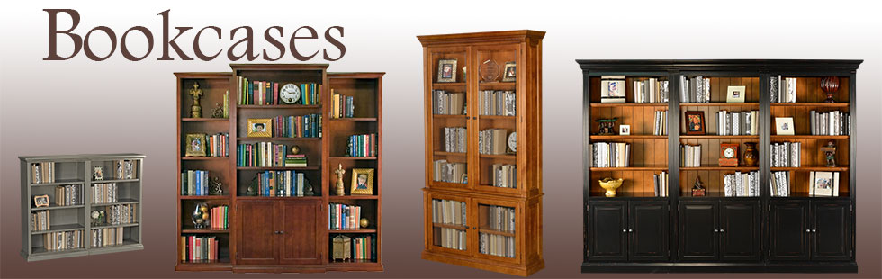 Custom Bookcases California - Solid Wood American Made Bookcases .
