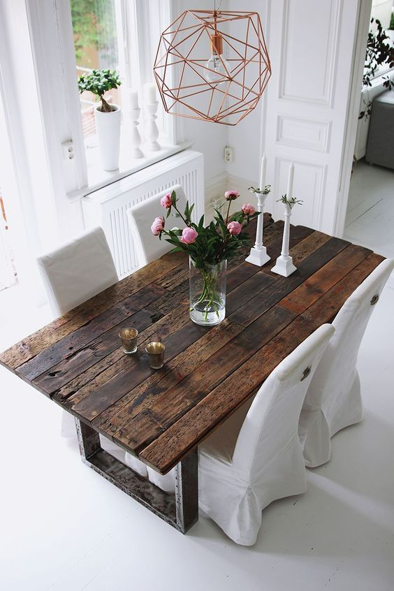 75 Modern Rustic Ideas and Designs | Dining room design, Dining .