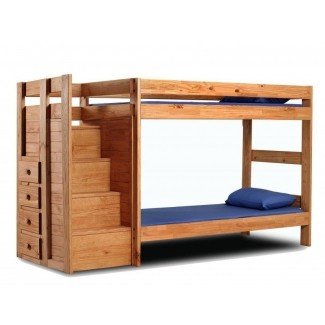 Solid Wood Bunk Beds With Stairs - Ideas on Fot