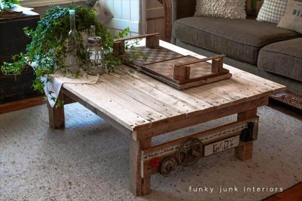 DIY Wooden Pallet Coffee Table Project – 101 Palle