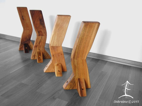 Wooden coffee table legs made of walnut wood pear spruce | Et
