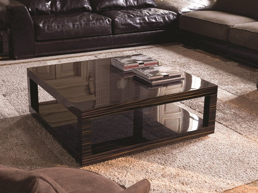 Square wooden coffee table HAMILTON | Square coffee table .