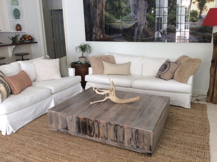 Hand Crafted Square Reclaimed Coffee Table by Tim Sway .