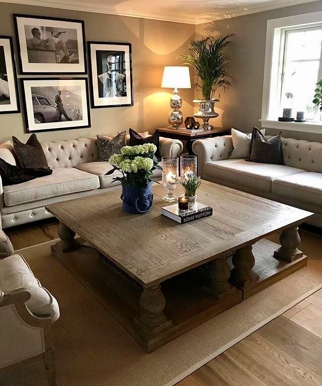 Two coffee tables put together! Love! | Living room decor .