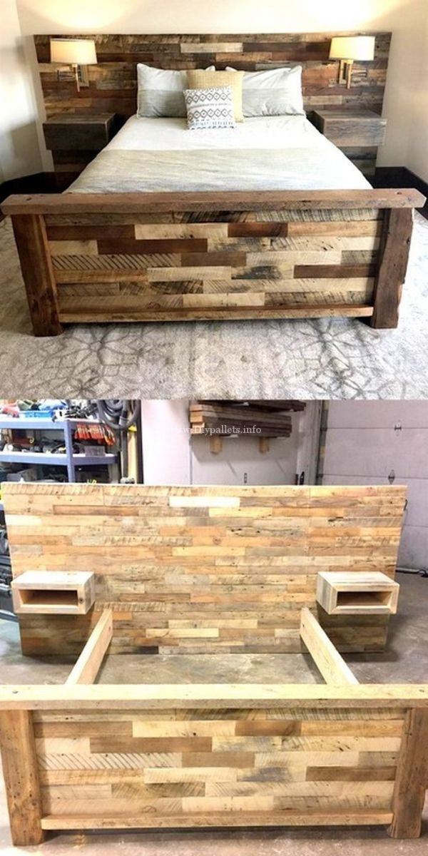 Wonderful Wooden Pallets Bed Projects by gabriela #Wooden .