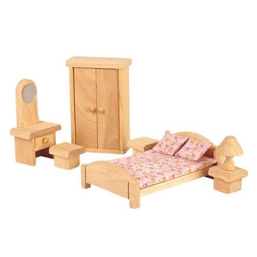 Wooden Dollhouse Furniture - Plan Toys Classic - Bedro