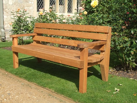Garden Bench - 2 Seater with Arms - E Timber Produc