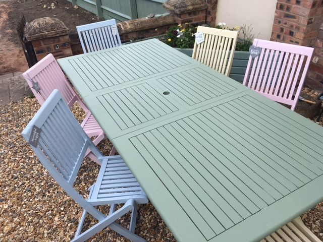 How to Paint Garden Furniture with Pastel Colours | Painted garden .