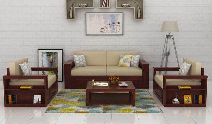 Pune | Wooden sofa designs, Wooden sofa set, Living room sofa desi