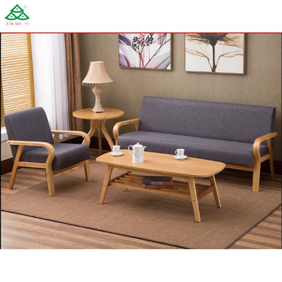 China Modern Style Solid Wood Sofa Set - China 5 People Sofa .