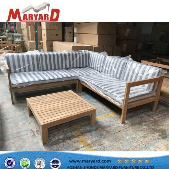 China High Quality Wooden Sofa Set Designs Teak Outdoor Sofa .