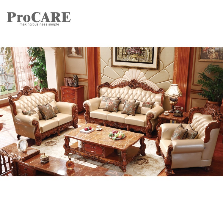wood sofa set design for living room/living room furniture design .