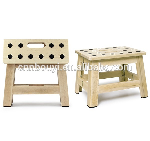 Factory Price 9 Inches Height Wooden Folding Step Stool - Buy .