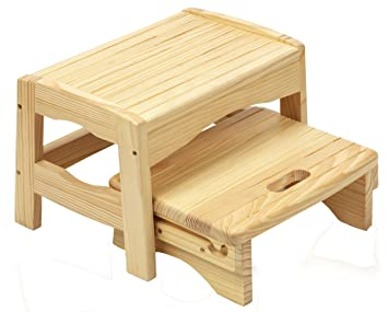 Amazon.com : Safety 1st Wooden Two Step Stool : Toilet Training .