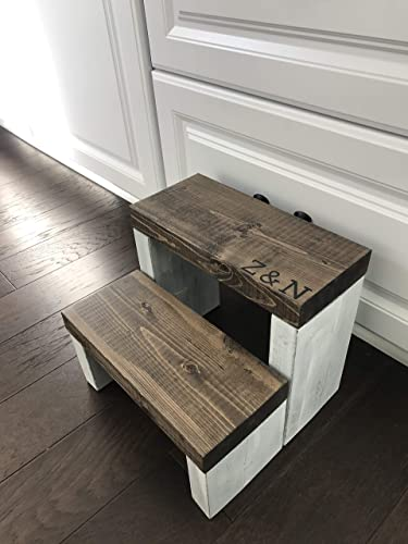 Amazon.com: Personalized Rustic Kids Step Stool/Personalized Kid .