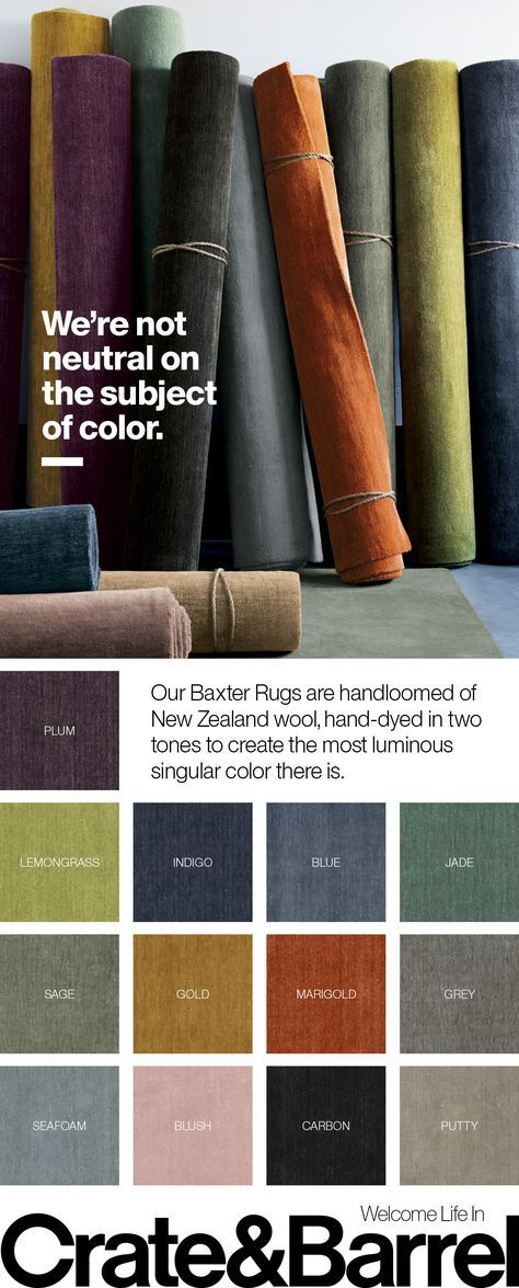 Baxter Indigo Wool Rug   Interior paint colors for living room .