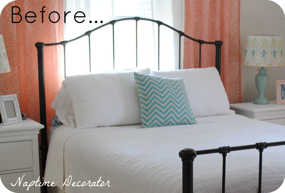 How to Paint a Wrought Iron Bed Frame (in one easy step!) (With .