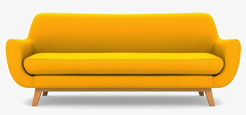 Yellow Sofa Png Clipart - Studio Couch - Free Transparent PNG .