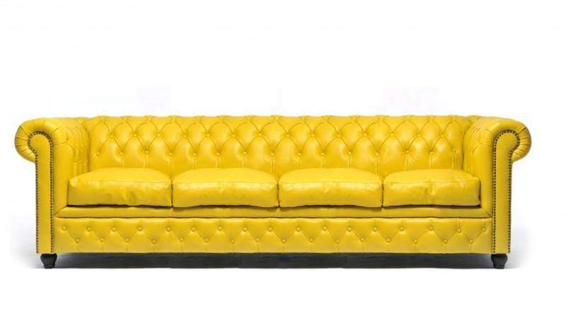 Chesterfield Original 4-seat Sofa Yellow - House of Chesterfie